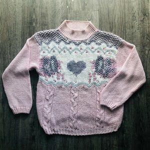 Vintage 80s Nuggets Light Pink Lavender Sweater
